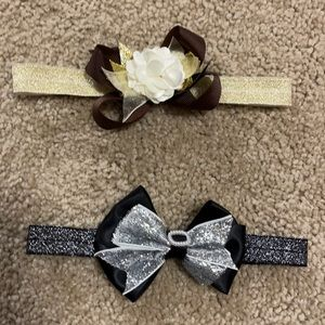 New Gold, Cream & Brown/Black & Silver Head bands
